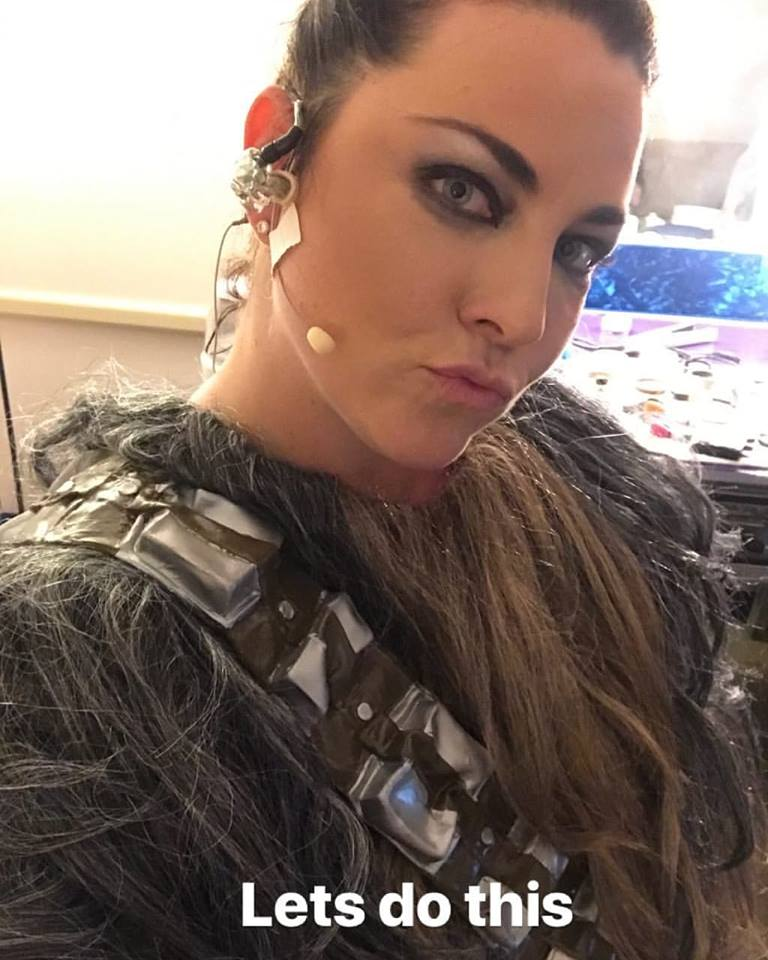 Amy Chewbacca Lee. Evanescence at Bridgefiel 2018. End of the Synthesis Era.