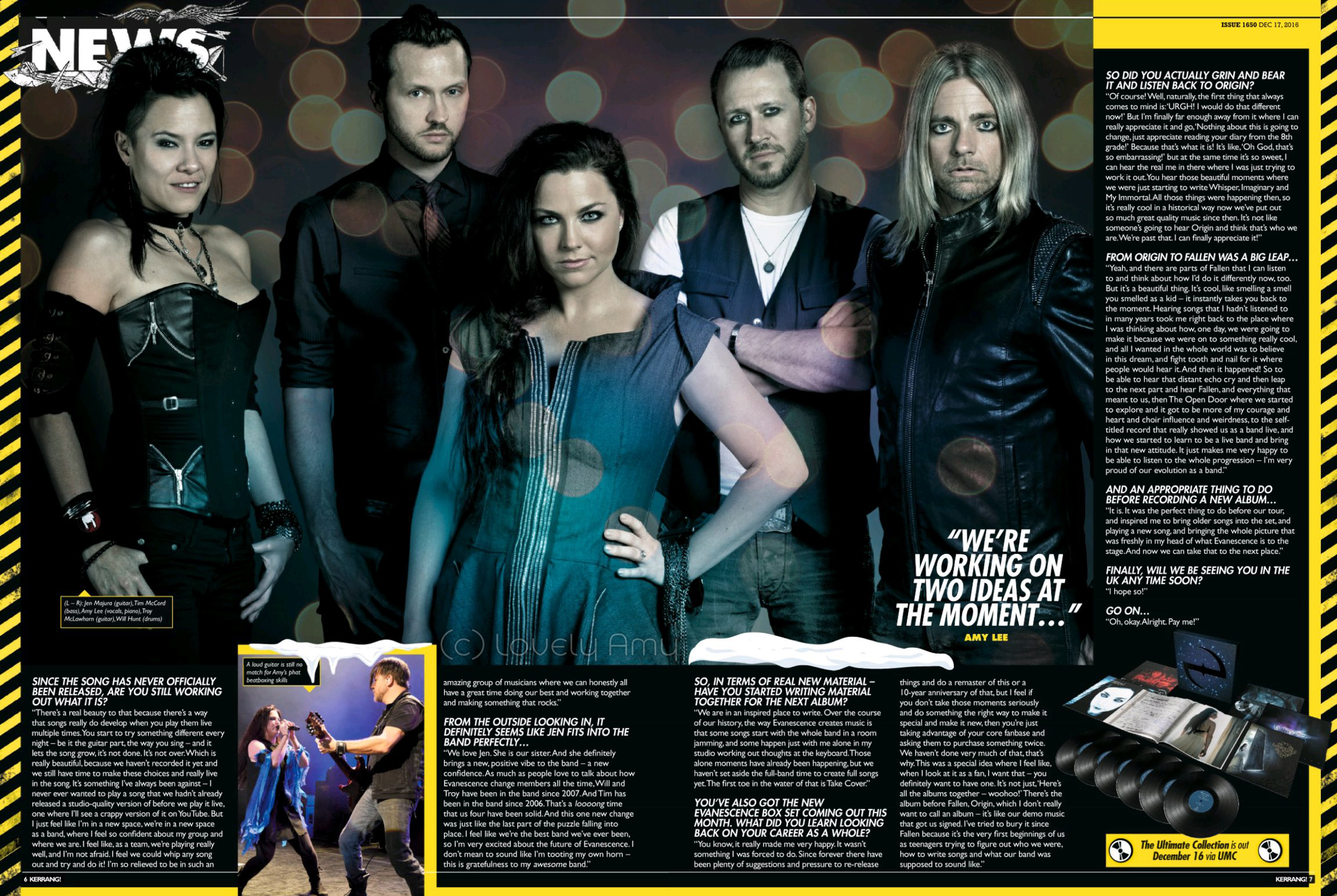 Amy Lee interview with Kerrang Magazine